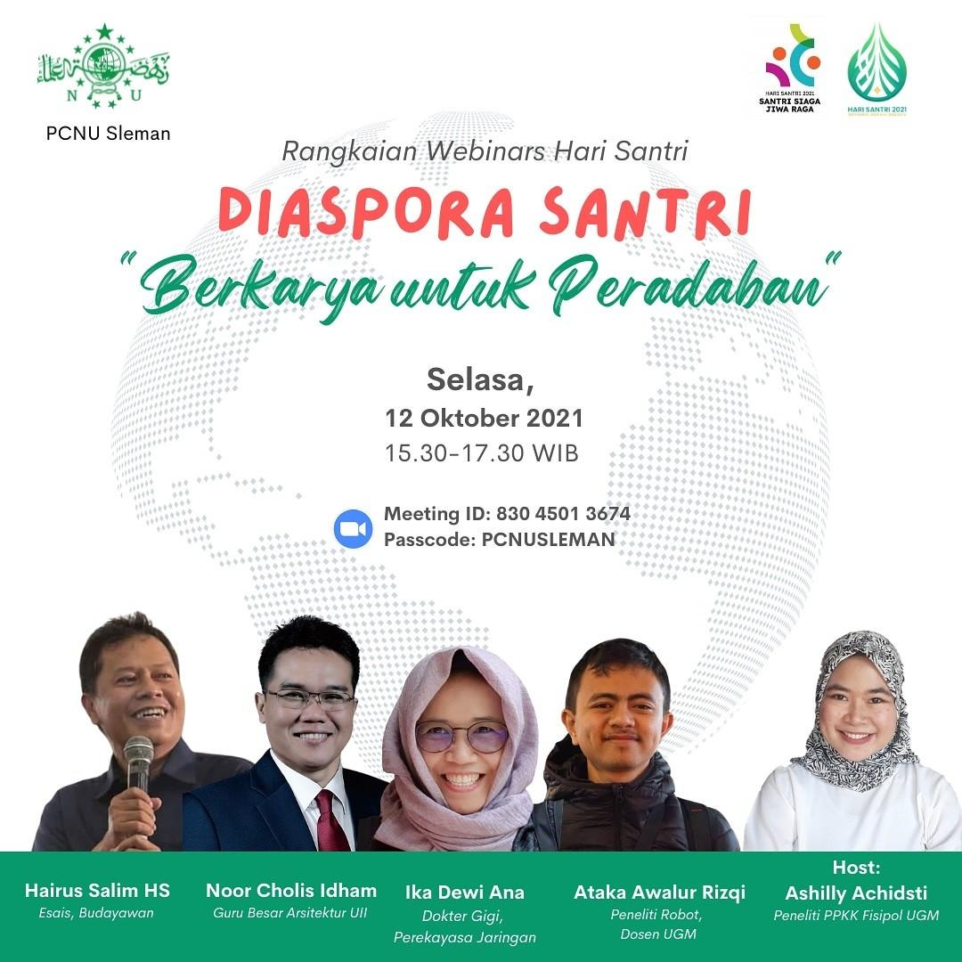 PCNU Kabupaten Sleman Adakan Seminar Diaspora Santri